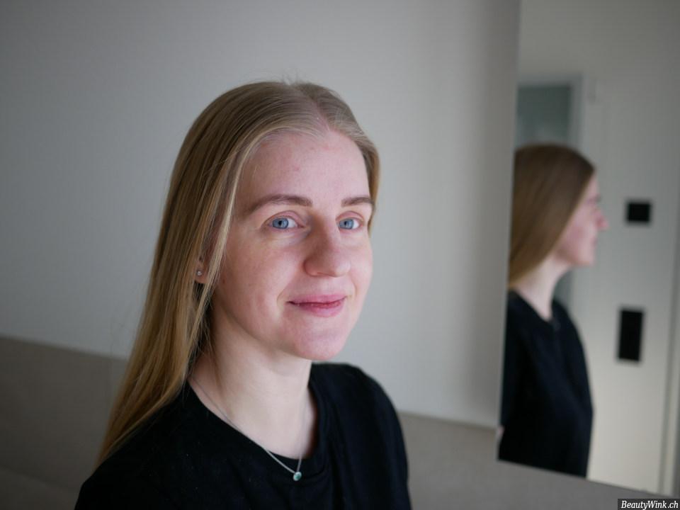 Annemarie Börlind Hyaluron Augenpads auf der Haut