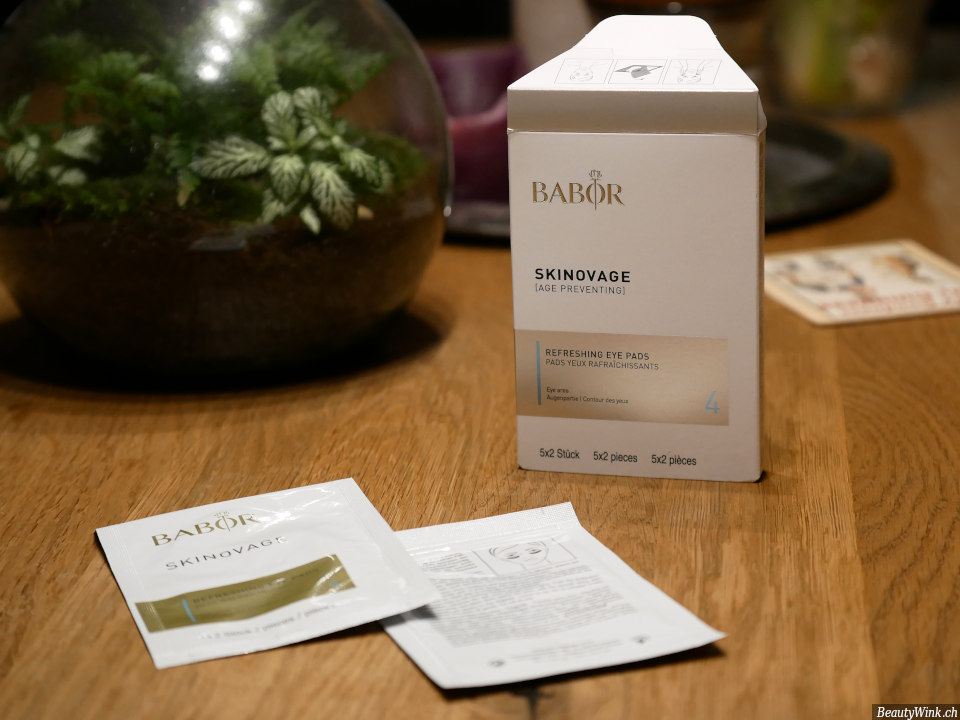 Babor Skinovage Augenpads Packung