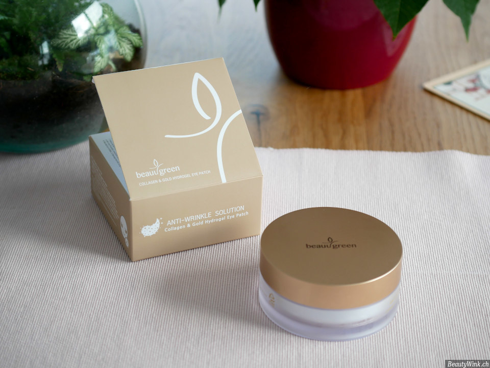 Beauugreen Collagen & Gold Hydrogel Augenpads Packung