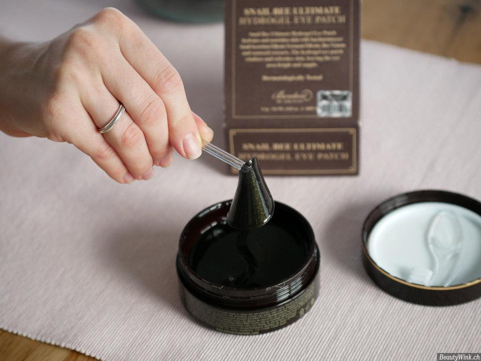 Benton Snail Bee Ultimate Hydrogel Augenpads Anwendung