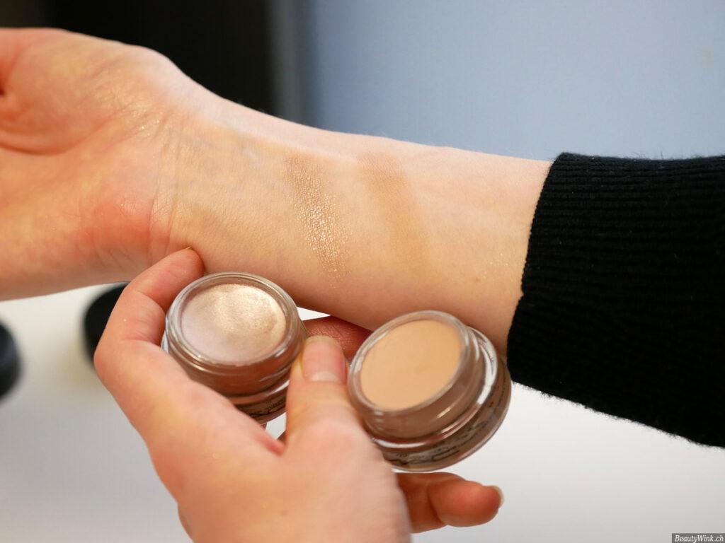 Lidschatten MAC Pro Longwear Paint Pots auf der Haut aufgetragen