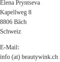 BeautyWink Kontaktdetails
